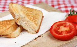 Triangle sandwich toast Royalty Free Stock Photography