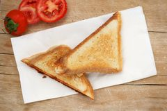 Triangle sandwich toast Royalty Free Stock Image