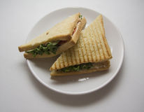Triangle sandwiches Stock Images