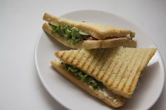 Triangle sandwiches Stock Photos