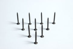 Triangle from screws Royalty Free Stock Photography