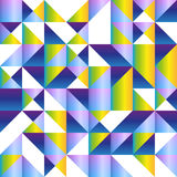 Triangle seamless background in bright colors. Bright color polygon triangle geometric shape seamless background in blue, violet, pink, green and yellow colors royalty free illustration