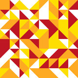 Triangle seamless background in bright warm colors. Bright warm color polygon triangle geometric shape seamless background Stock Photos