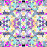 Triangle seamless background Stock Photos
