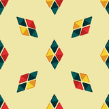 Triangle seamless pattern with bright details. Triangle seamless pattern with colorful details Stock Photography