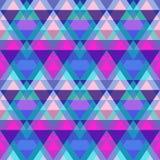 Purple triangle seamless pattern Stock Photography