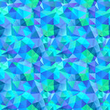 Triangle seamless pattern of geometric shapes. Colorful mosaic b. Anner royalty free illustration