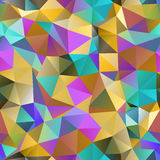 Triangle seamless pattern of geometric shapes. Colorful mosaic b. Anner Royalty Free Stock Photos