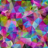 Triangle seamless pattern of geometric shapes. Colorful mosaic b. Anner Stock Image