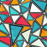 Triangle seamless pattern with grunge effect Stock Image