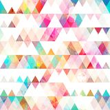 Triangle seamless pattern with grunge effect Royalty Free Stock Photography