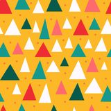 Triangular pieces stylish seamless pattern. Triangle seamless pattern. mid century inspired pattern. 1960 1950 design. vector print royalty free illustration