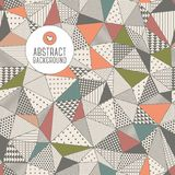 Triangle seamless pattern. Vector illustration. Royalty Free Stock Photography