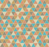 Triangle seamless pattern in vintage colors Stock Photography