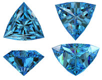 Triangle shape blue diamond isolated Royalty Free Stock Photography