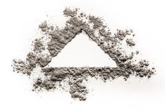 Triangle shape concept drawing illustration made in dust, ash, s Royalty Free Stock Images