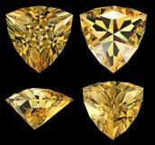 Triangle shape diamond isolated Royalty Free Stock Photo