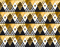 Triangle shape geometric African tribal seamless pattern Royalty Free Stock Photo
