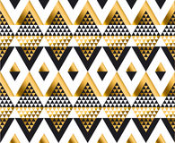 Triangle shape geometric African tribal seamless pattern Royalty Free Stock Photos