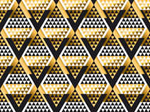 Triangle shape geometric art deco seamless pattern Royalty Free Stock Photos