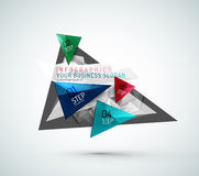 Triangle shape modern paper infographics Stock Image