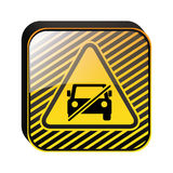 Triangle shape no parking traffic sign Stock Photo