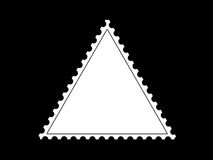 Triangle shape postage stamp frame. For your picture/photo Stock Photo
