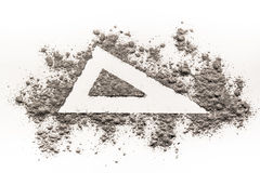 Triangle Shape Sign Drawing In Ash Royalty Free Stock Photography