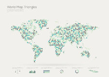 Triangle shape world map, infographic Stock Photos