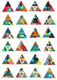 Triangle shape for your message or option banner Royalty Free Stock Photography