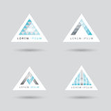 Triangle shaped logo set Royalty Free Stock Photo