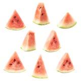 Triangle shaped watermelon slice isolated Royalty Free Stock Photos