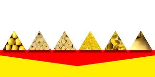 Triangle shapes full of apple textures Stock Photography