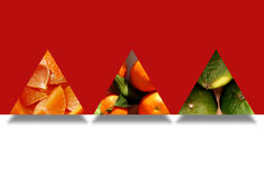Triangle shapes full of citrus textures Royalty Free Stock Photography