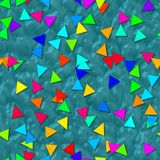 Triangle shapes with seamless generated texture background Stock Photo