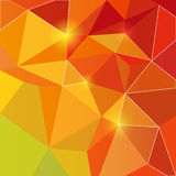 Triangle shiny orange backround Stock Photo