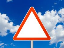 Triangle sign royalty free stock photography