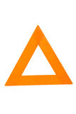 Triangle sign (clear). Clipping path for sign stock photo