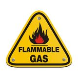 Triangle sign - flammable gas Stock Photo