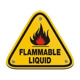 Triangle sign - flammable liquid Stock Image
