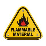 Triangle sign - flammable material Stock Image