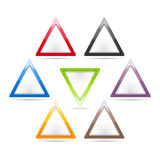Triangle Signs royalty free illustration