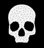 Triangle-skull-contour-white Royalty Free Stock Images