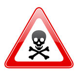 Triangle skull danger sign Royalty Free Stock Photos