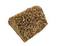 Triangle slice of healthy Bread with a variety of seeds Stock Image