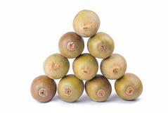 Triangle stack of kiwi fruit Stock Photo