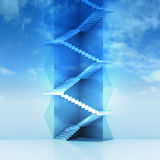 Triangle staircase vertical construction in sky background Stock Photos