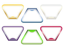 Triangle stickers. Set of triangle stickers vector illustration Stock Photos