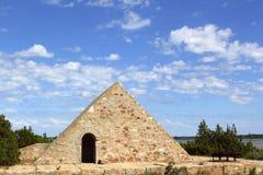Triangle stone masonry Ses Salines formentera Royalty Free Stock Images