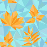 Triangle style autumn leaves Royalty Free Stock Image